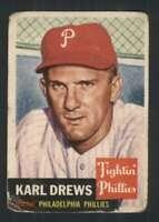 1953 Topps #59 Karl Drews G Phillies DP 87179