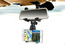 Car Rear View Mirror Mount Holder Cradle For iPhone 5 5G 5C 5S SE 6 6G 6S 7 Plus