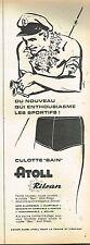 L- Publicité Advertising 1958 Les Maillots de bain pour homme Atoll Rilsan