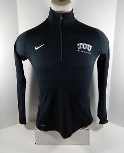 Texas Christian Univeristy TCU Women's Black Quarter Zip Up Shirt Nike New S