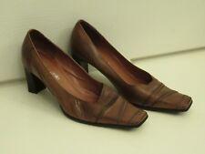 Moda In Pelle Brown Tan Chaussures en cuir, taille 5