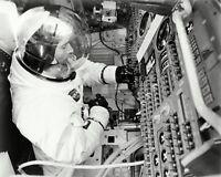 JOHN YOUNG APOLLO 10 ASTRONAUT IN COMMAND MODULE SIM - 8X10 NASA PHOTO (ZZ-611)