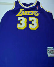 MITCHELL & NESS NBA KAREEM ABDUL JABBAR LA LAKERS BASKETBALL JERSEY SIZE 48