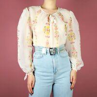 Vintage 80s Checked Blazer 34 Sleeve Indie Boho Hippie Size 1214