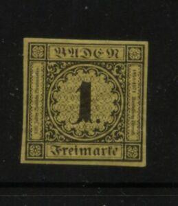 Germany   Baden  mint   gum   nice stamp           MS0430