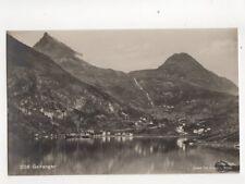 Geiranger Norway 1927 RP Postcard 106b