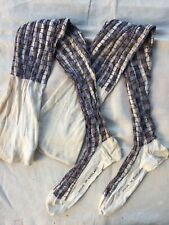 New listing Antique 1900's Cotton Stockings Plaid Made In England