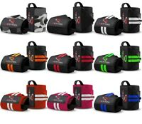 Weight Lifting Wrist Straps Elasticated Gym Wraps Bodybuilding Grip Support RFG