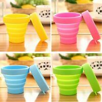 Candy Colors Travel Mug Folding Cup Telescopic Collapsible Soft Drinking Cup