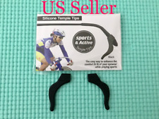 US Seller Temple Tip Ear Hooks Keep Glasses From Slipping 1 Pair Anti Slip Black
