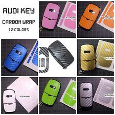 Audi Flip Key Carbon Decal Sticker Fob Keyring Overlay A1 A3 A4 A6 TT S Line