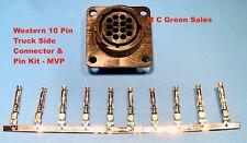 Western Fisher Snow Plow Replacement 10 Pin Truck Side Repair Plug Kit Mvp Plus
