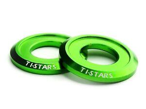 Washer M10 Aluminum Anodized Finishing Colorful Ti-STARS New design 10pcs Green