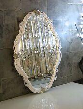 Wandspiegel Weiß Silber Spiegel Antik Wanddeko Badspiegel Shabby Barock C26SV
