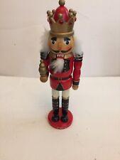 Red King Holding Scepter Wooden Christmas 12 Inch Nutcracker