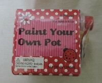 Butterfly Themed Paint Your Own Flower Pot Kit