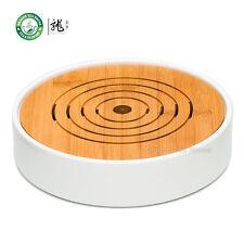 Tabella di tè rotonda della porcellana Bambù Gongfu Serveware Vassoio φ23cm