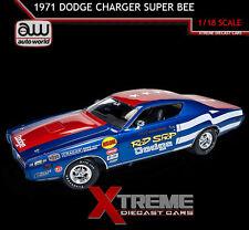 AUTOWORLD AW224 1:18 1971 ROD SHOP DODGE CHARGER SUPER BEE DAVE BOERTMAN