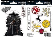 Game Of Thrones (2 sheets) set of vinyl stickers 160mm x 110mm (aby)