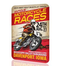 Wall Sign Metal Antique Motorcycle Races Vintage Classic Poster Retro Classic