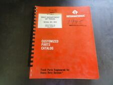International Model 4900 Customized Parts Catalog Manual
