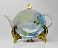 Vintage Porcelain Tea Bag Holder - Floral