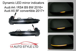 Sweeping flowing LED side door wing mirror indicator light for Audi A4 B9 A5 8F