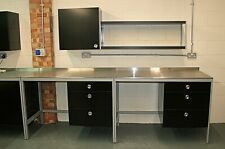 More details for kitchen units. industrial style with stainless steel worktops. choice of units.