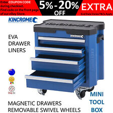New Kincrome MINI TOOL BOX CHEST TROLLEY Toolbox Cabinet Storage Portable Drawer