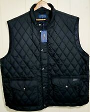 Polo Ralph Lauren Quilted Vest Jacket with Leather Trim Mens 5XL Big NWT $228.00