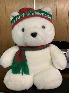 JL HUDSON XMAS VINTAGE 1986 famous plush Santa Bear