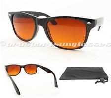 Wayfarer Sunglasses Blue Blocker High Definition HD Vision Orange Anti Glare Men