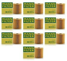 NEW Set of 10 Engine Oil Filters Mann for Volvo C70 S40 S60 S70 S80 V40 V70 XC90