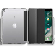 For Apple iPad Pro 10.5 Soft Silicone Back Case Smart Trifold Cover Black