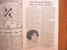 Nov.-1964 Lancaster Pa TV Week(ANNE BANCROFT/WINK MARTINDALE/BEVERLY HILLBILLIES