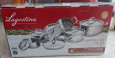Lagostina 5-Ply Copper-Clad Cookware Set, 12-pc