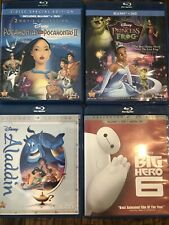 Disney Movies Big Hero 6 Pocahontas Aladdin The Princess And The Frog Sold As Is