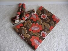 Genuine Retro 5x Rolls Wallpaper Original Vintage Red Brown Textured 1960s