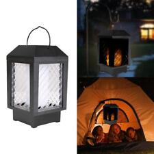 96 LED Solar Flame Flickering Lantern Light Outdoor Landscape Garden Decor Lamp