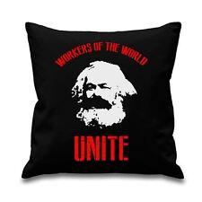 "Karl Marx Workers Of The World Unite 18"" x 18"" Cushion - Socialist Marxist"