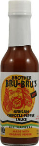 Organic African Chipotle Pepper Sauce by Brother Bru-Bru's, 5 oz