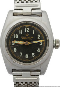 Vintage Rolex Bubbleback Ref 2940 Original Dial Mens Watch to Fix or For Parts