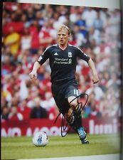 Dirk Kuyt signed Liverpool 10x8 COA