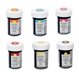 6X Wilton Concentrated Icing Colour Gel Paste Halal Available In Various Colours