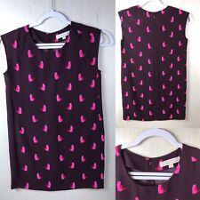 Ann Taylor Loft cat shift sleeveless Dress Womens small petites purple pink :)#