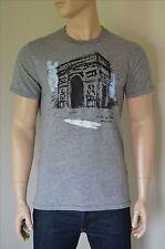 NUOVO Abercrombie & Fitch viaggio TEE GRIGIO PARIS FRANCE Arco di Trionfo T-Shirt M