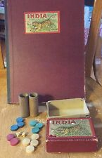 VINTAGE MILTON BRADLEY COMPANY INDIA HOME EDITION BOARD GAME