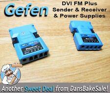 Gefen DVI FM Plus DVI-FM-Plus Sender and Receiver Units with Power Supplies