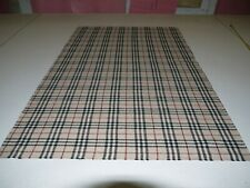 "Burberry all wool tartan remnant 99cm (39"") long, 153cm (60"") wide 680grams"