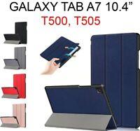 """Étui Pour Galaxy Tab A7 10.4 """" T500, T505 Cuir Magnétique Support Livre Smart"""